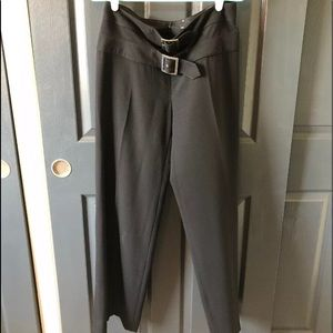 Valentino Wide Leg Double Buckle Trousers Size 8